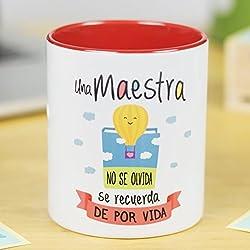 La Mente es Maravillosa | Taza cerámica de café o desayuno | Regalo para MAESTRA o PROFESORA | RESISTENTE 100% al microondas y lavavajillas | Taza con mensaje divertido para oposición | BONITA y EXCLUSIVA | esmaltado especial brillante de GRAN CALIDAD | frases y dibujos creativos grabados en la superficie | perfecto para cualquier bebida, infusión o té | Maestra