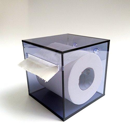 Kunststoff saugnapf rollenhalter,Wand halterung frei stehende einfache wasserdichte küche wc bad gewebe box toilettenpapierhalter-A 12.6x12.6x12cm(5x5x5inch) -