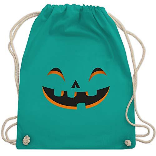 Halloween - Kürbisgesicht Kostüm - Unisize - Türkis - WM110 - Turnbeutel & Gym Bag (Beliebte Frauen 2019 Halloween-kostüme Für)
