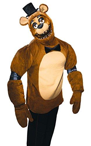Fünf Nächte bei Freddy Kostüm Freddy–Erwachsene Kleine (Willy Wonka Hut)