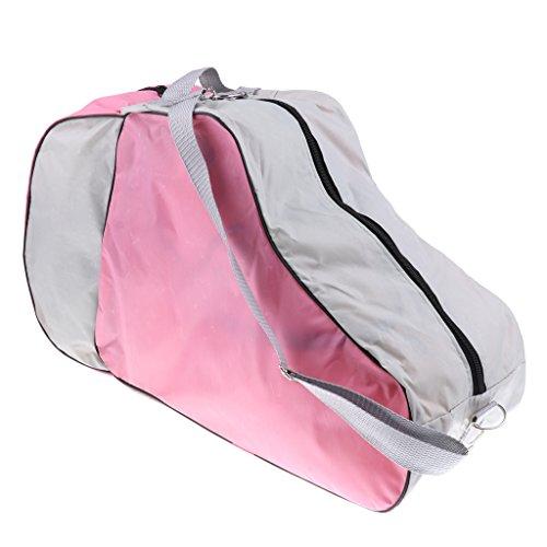 Baoblaze Skischuhtasche Sport Schuhtasche Mit Schultergurt Schlittschuhtasche Skate Bag für Herren Damen Kinder - Rosa