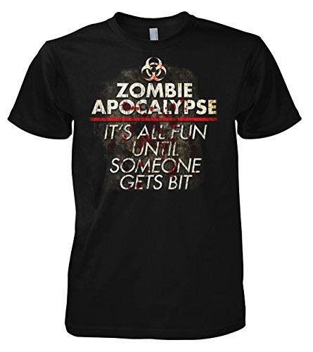 Geek Zombie Apocalypse 701852 Herren T-Shirt 001 (T Apocalypse Zombie Shirts)