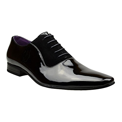 Mens New Casual Black Leather Smart Formal Lace Up Shoes 9 UK...