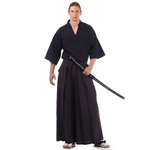 Kendo Gi & Hakama Laido Outfit Baumwolle One Size M L XL Braun & Schwarz
