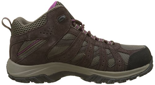 Columbia Canyon Point Mid Waterproof, Stivali da Escursionismo Alti Donna Marrone (Mud, Intense Violet)