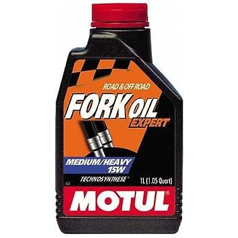 Olio Forcella Motul Fork Oil Expert Medium/Heavy 15W Technosynthese 1 litro lt