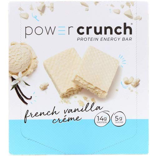 Power Crunch Protein Energy Bar Orignal, French Vanilla Creme, 1.4-ounce Bar (12 Stück) -