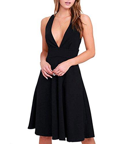 Черное Платье С V Образным Вырезом