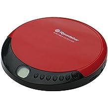 Roadstar PCD-435CD tragbarer CD-Player inkl. Ohrhörer rot