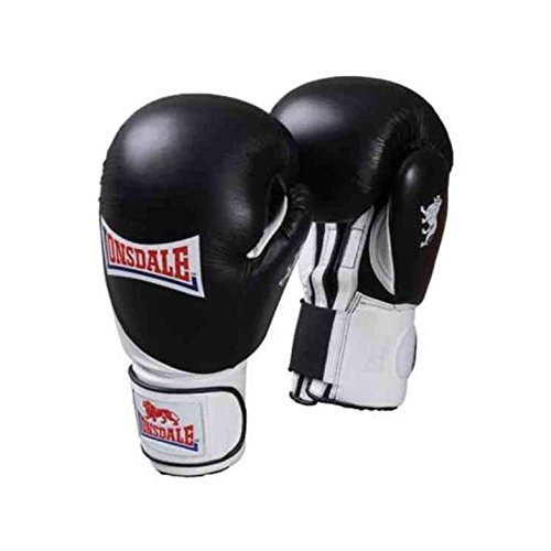 Lonsdale Leather Club Spar Boxing Gloves Punch Fight Mitts Training Sport Equipment