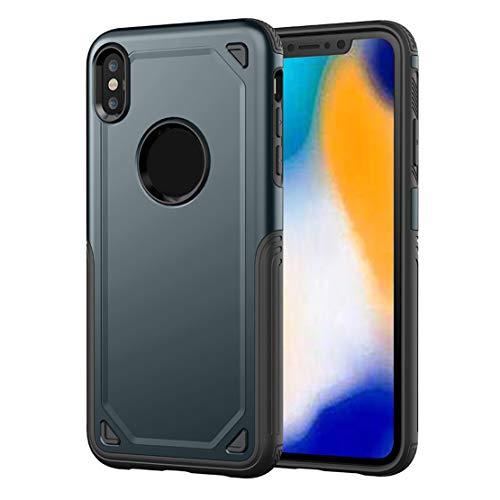 happy event Schützende hybride robuste harte schützende Haut-Kasten-Abdeckung für iPhone XS 5.8 inch   Protective Hybrid Rugged Hard Protective Skin Case Cover For iPhone XS 5.8 inch (Marine)