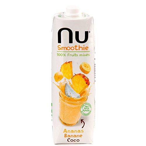 Nu Smoothie Ananas Banane Coco sans Gluten 1 L