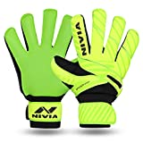 Nivia 902 Ditmar Spider Goalkeeper Gloves, Men's Medium (Green/Black)