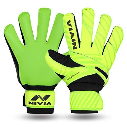 Nivia 645 Ditmar Spider Goalkeeper Gloves, Men's Small (Green/Black)