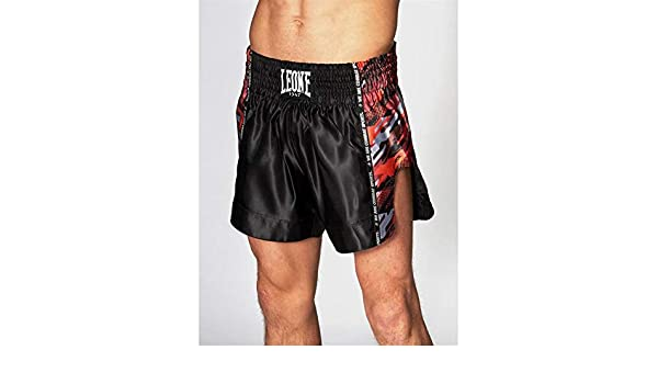 Booster Muay Thai Kick Boxing Shorts Retro Hybrid for Men and Women Colour Black