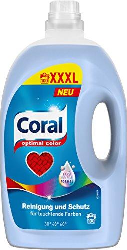 Coral Waschmittel Optimal Color flüssig 100 WL, 1er Pack (1 x 100 WL)