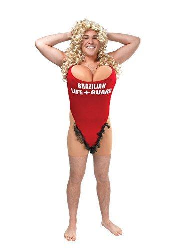 Herren Rettungsschwimmer / Haarig Marien-kostüm für 90s Baywatch Kostüm Outfit ()