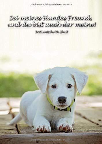 Sei meines Hundes Freund, und du bist auch der meine! Indianische Weisheit: Ein Tagebuch für Hundefreunde und Hundebesitzer   schreibe deine ... in diesem linierten Journal auf   Notizbuch