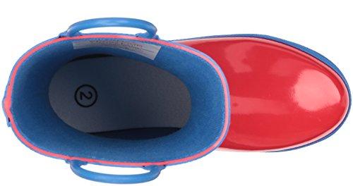 Hatley Jungen Red & Blue Rainboots Stiefel Rot