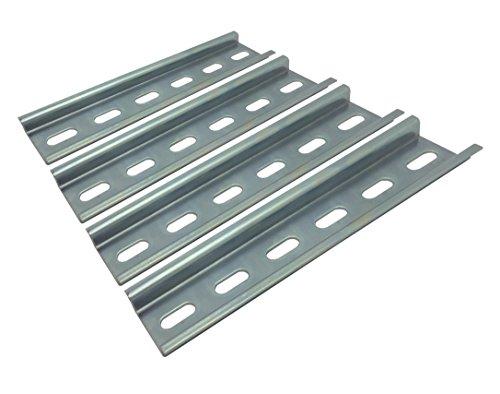 120-volt-schaltung (Electrodepot Nutstahl-DIN-Schiene, verzinkt, 35 mm x 6 Zoll, silberfarben, 4 Stück)