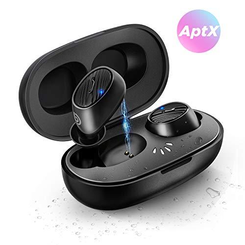 BOMAKER Cuffie Wireless Bluetooth 5.0 di, True Wireless Headphone Auricolare IPX7 in-Ear con Custodia di Ricarica e Microfono Incorporato (35 Ore di Riproduzione, accoppiamento Automatico)