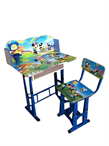 FF Hollywood Mickey Mouse Kids Study Table & Chair Set, Suitable for Kids Between Age 3-10 Years, By FURNITURE FIRST