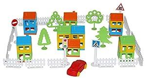 Polesie Polesie56221 - Juego de Juguetes de construcción «My Town» (61 Piezas)