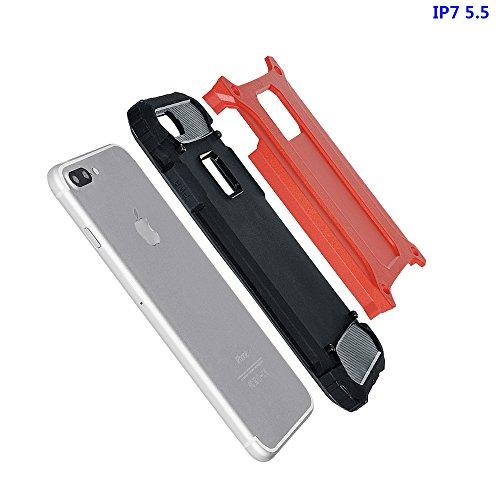 """xhorizon Double Couche Plastique Dur PC TPU DOUX Mélangé Antichoc Couverture de Protection Lourde pour iPhone 7 Plus[5.5""""] avec 9H film de protection en verre trempé #6 +9H Glass Tempered Film"""