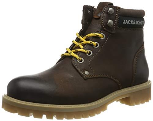 JACK & JONES Jfwstatton Leather, Botas Clasicas para Hombre, Marrón Coffee Bean, 41 EU