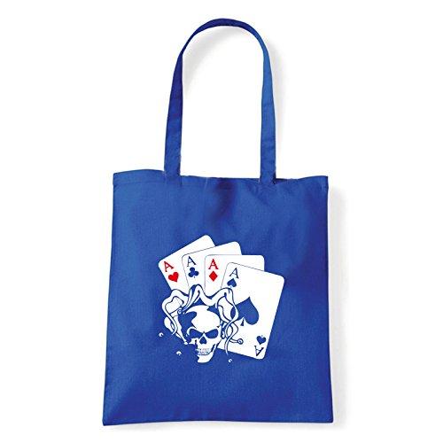 Art T-shirt, Borsa Shoulder skullaces Blu