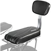 ALIXIN-10029 - Cojín para asiento trasero de bicicleta, asiento trasero de bicicleta, reposapiés para niños, asiento trasero de bicicleta, asiento trasero, asiento de niño, reposabrazos, pasamanos trasero, pedales de seguridad, accesorios para bicicleta al aire libre, incluye respaldo a juego. (Uso general para adultos y niños)