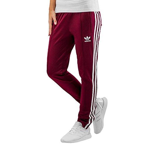 Pantalon Superstar Bordeaux Femme Adidas Rouge
