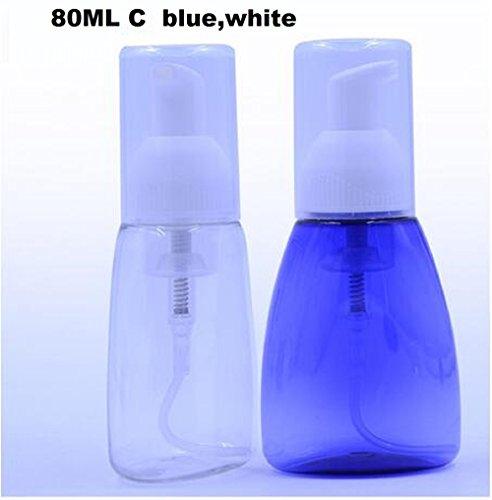 Kastilien Seife-paket (Youji® Foaming Dispenser für Kastilien Liquid Seife, 80ml C Style-Pack von 2 (Weiß, Blau))