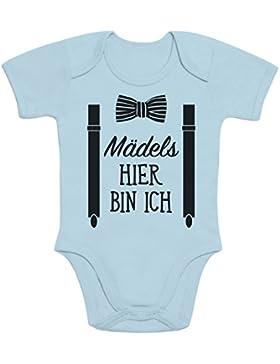 Mädels, Hier Bin Ich! - Geschenk für Neugeborene Baby Body Kurzarm-Body