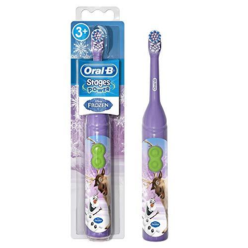 Braun Oral-B Stages Power Kids Batería de Cepillo de Dientes Niños 3+ Años Disney Frozen la Reina de Hielo + MAGIC temporizador, Modelos Aleatorios
