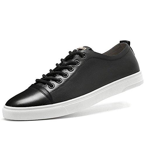 Hiver tendance automne classique Casual hommes chaussures en cuir véritable noir dentelle Chaussures
