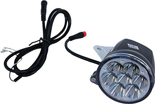 SXT Scooter LED Vorderlicht, Frontlicht 36V schwarz Ersatzteil Elektroroller