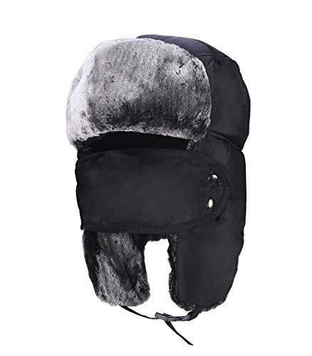 GG ST Wintermütze Dicke Fliegermütze Unisex Trapper Trooper Hut mit Ohrenklappen Maske Winddichte Warm Cap