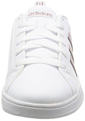 adidas Vs Advantage W, Sneaker Bas du Cou Femme Blanc Cassé (Ftwbla/grmeva/griper)