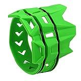Nrpfell Cubierta Silenciador Anillo Anti-Plancha de Moto Cubierta Protectora Anillo Aislante Adecuado para Todoterreno Buggy Piezas (Verde)