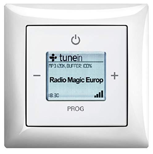Busch Jäger Unterputz UP iNet Inernet WLAN Radio (8216U) Balance SI alpinweiß glänzend - Set mit Radioeinheit 8216 U, Rahmen und Radioabdeckung