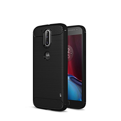 MTT Rugged Armor Shock Proof Case Cover for MOTO G4 Plus / G4 (Black)