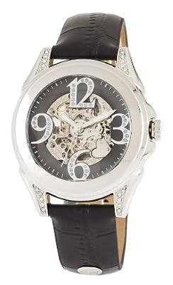Carlo Monti CM801-122 - Reloj analógico de mujer automático con correa de piel negra - sumergible a 30 metros de Carlo Monti