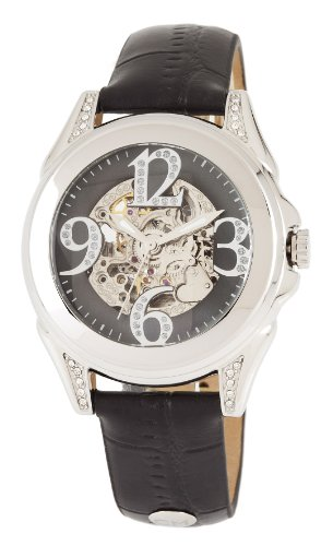 carlo monti cm801-122 modica, ladies watch, analogue display, automatic with citizen movement - water resistant, stylish leather strap, elegant women's watch