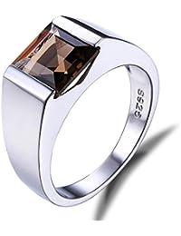 JewelryPalace 2.2ct Bijoux Luxe Classique Jaune Bague Homme Anneau en Argent Sterling 925 en Citrine Naturelle pour Fiançailles Alliance Mariage Anniversaire