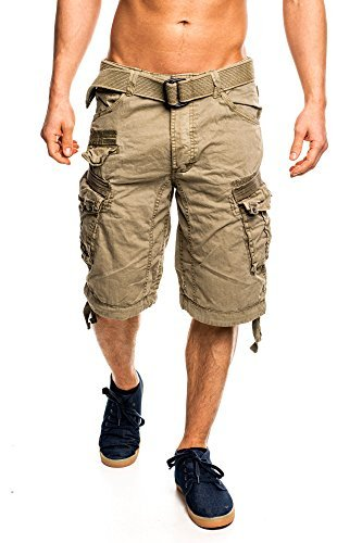 7I3 Geographical Norway People Herren Bermuda Shorts Kurze Hose Mastic XXL