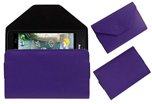 Acm Premium Pouch Case For Lenovo P770 Flip Flap Cover Holder Purple  available at amazon for Rs.179