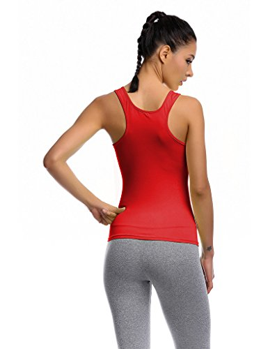 Jimmy Design Débardeur Compression Sport – T-Shirt Sans Manches - Rot - Level 1