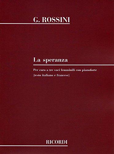 Speranza (3 Vx Femmes)-Ital./Fr. - Cht/Po