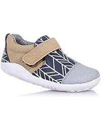 BOBUX - Chaussure I-Walk Aktiv bleue et beige en tissu et cuir, extrêmement flexible, elle permet une croissance, garçon, garçons